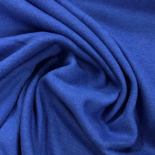 Royal Blue Cotton Rib Knit