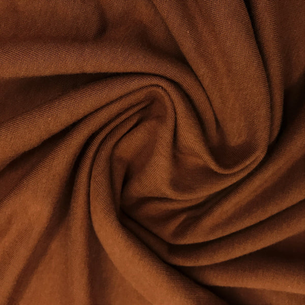 Rust Bamboo Stretch Fleece