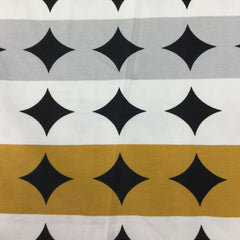 Gold and Gray Dot Stripes on Organic Cotton/Spandex Jersey