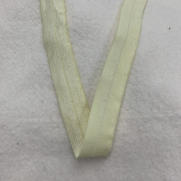 "5/8"" Shiny Fold Over Elastic-Banana"