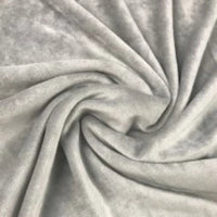 Light Gray Organic Cotton Velour