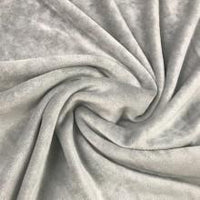Light Gray Organic Cotton Velour, $7.63/yd - Rolls