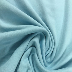 Sky Blue Cotton Rib Knit