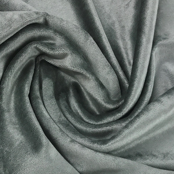 Steele Gray Bamboo Velour