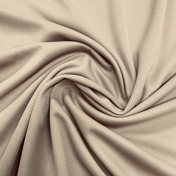 Tan Polyester Athletic Wicking Jersey - Nature's Fabrics