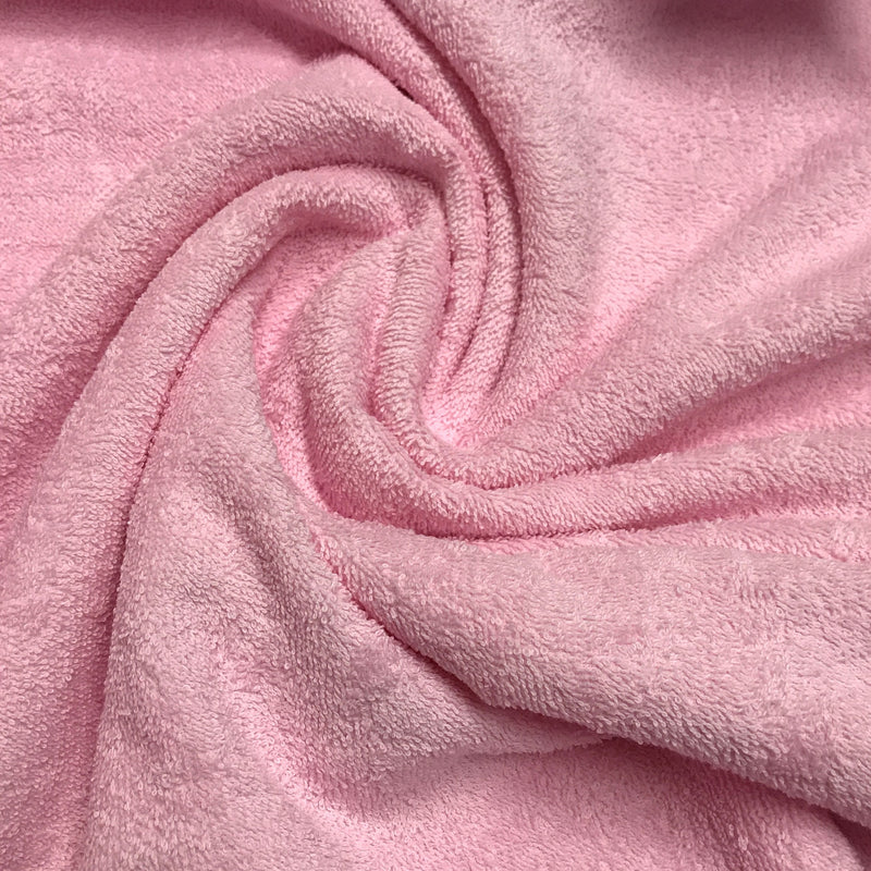 Pink Cotton Towel Terry - 325 GSM