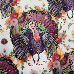 Floral Turkey on 1 mil PUL- Made in China