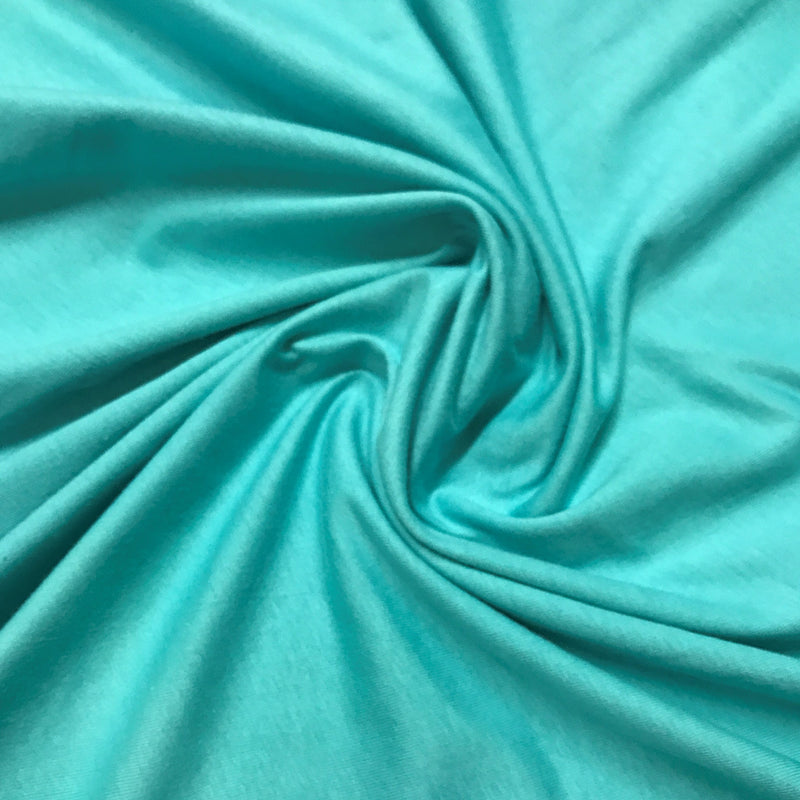 "Turquoise Cotton Jersey - 64"" wide"