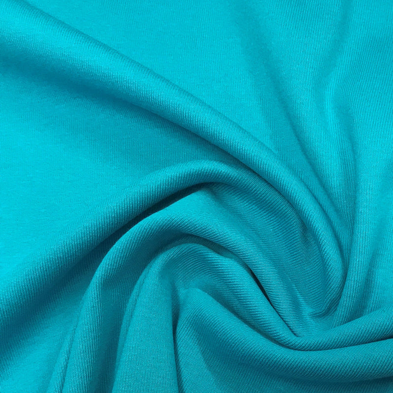 Turquoise Heavy Organic Cotton Rib Knit