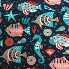Under the Sea on Organic Cotton/Spandex Jersey