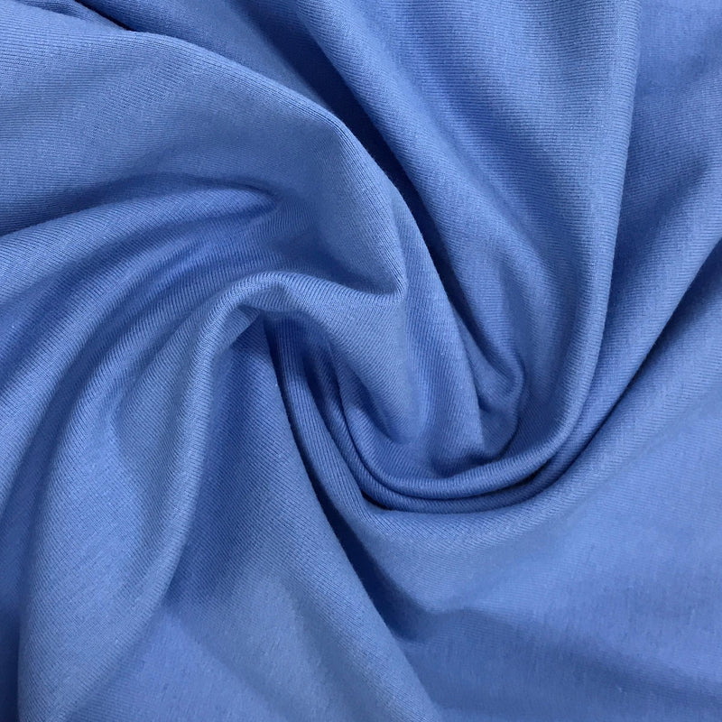 Uniform Blue Cotton/Spandex Jersey - 240 GSM