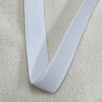 "1"" White Heavy Knit Elastic"