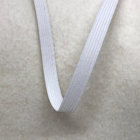 "1/4"" White Polybraid Elastic Spool - 100 yards"