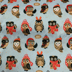 Winter Owls on Bamboo/Spandex Jersey