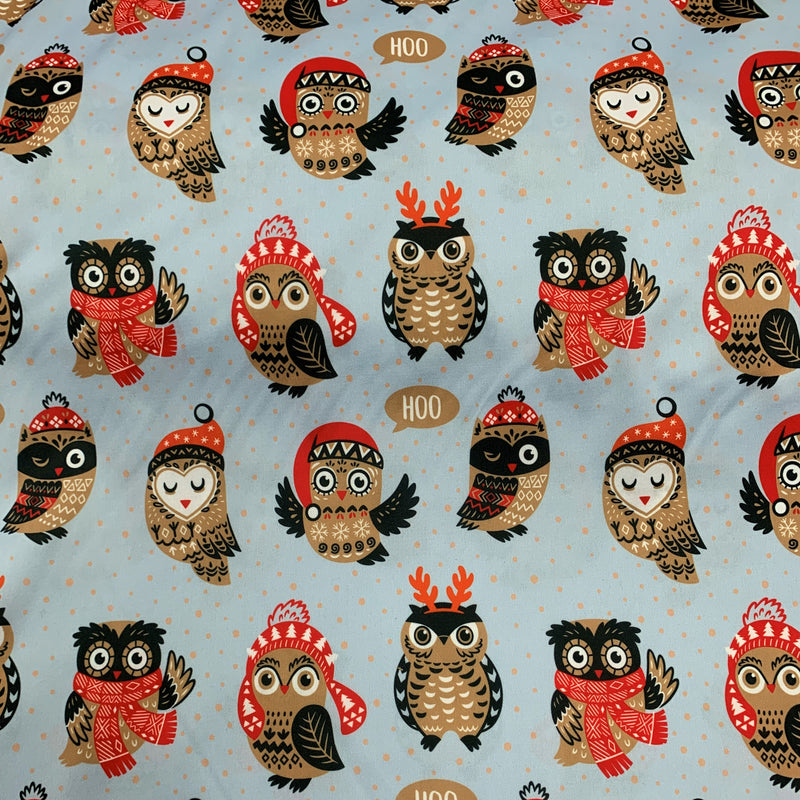 Winter Owls 1 mil PUL- Made in China