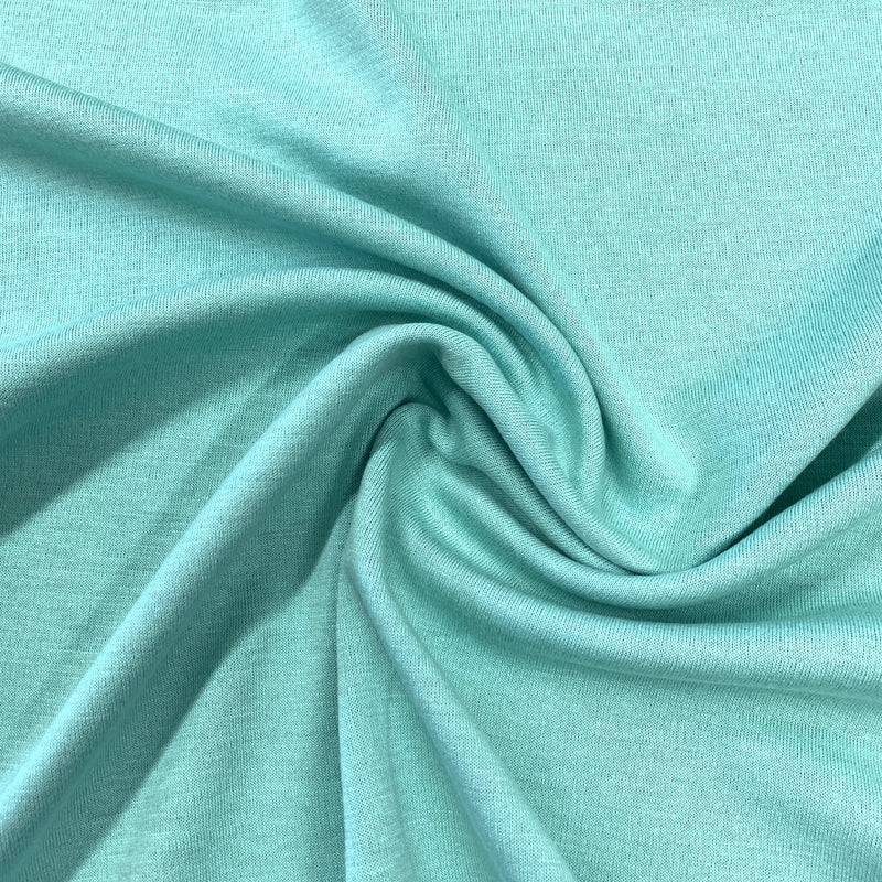 Blush and Mint Green Double-Sided Merino Wool Jersey