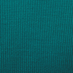 Teal Merino Wool Textured Jersey