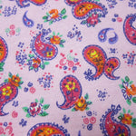 Paisley on Pink Cotton Interlock