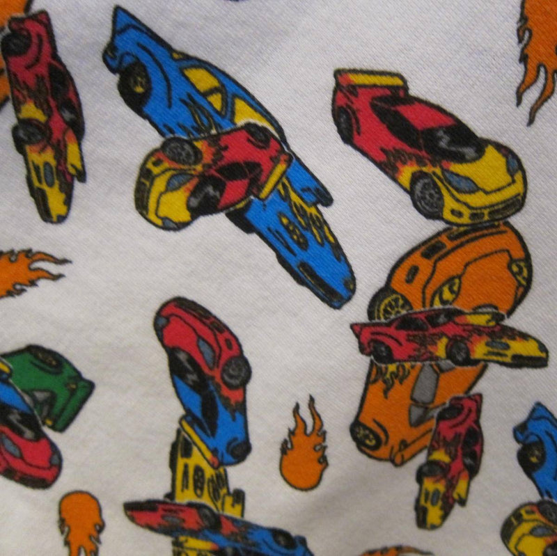 Race Cars Cotton Interlock