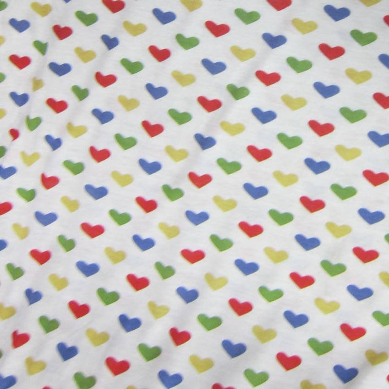 Hearts on Tan Cotton/Poly Jersey