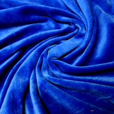 Royal Blue Cotton Velour