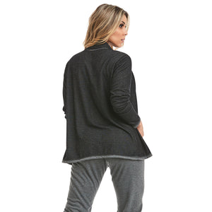 athletic cardigan black - back