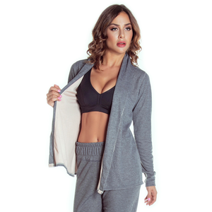 athletic cardigan - grey