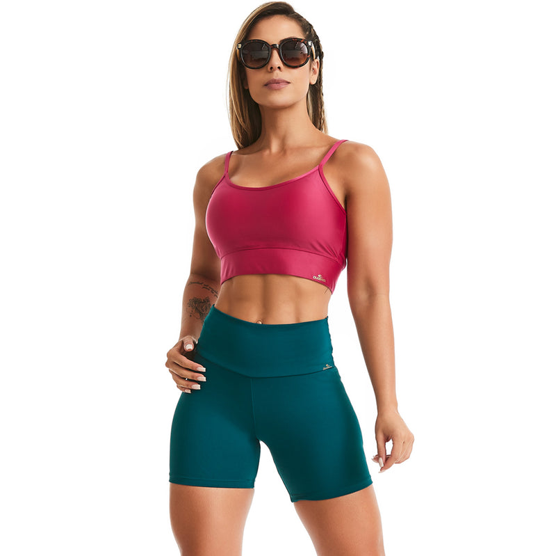 halter workout crop top