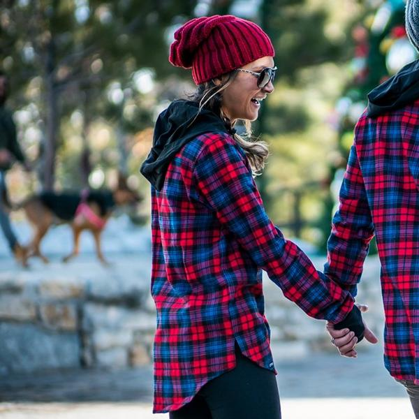 womens fitted flannel shirts