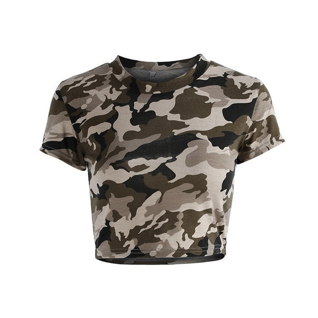 Fall 2018 Women's Camouflage Short Sleeve T-Shirt
