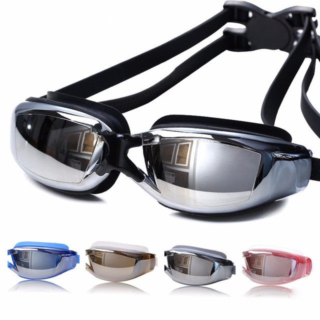 Professional Adult Waterproof Anti-Fog Swimming UV Goggles