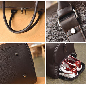 Best Leather Duffle Bag - Shoe Compartment