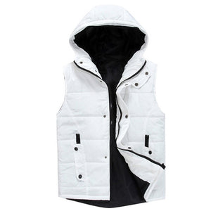 Fall 2018 Casual Slim-Fit Men's Hooded Vest