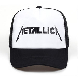 Metallica trucker hat - white