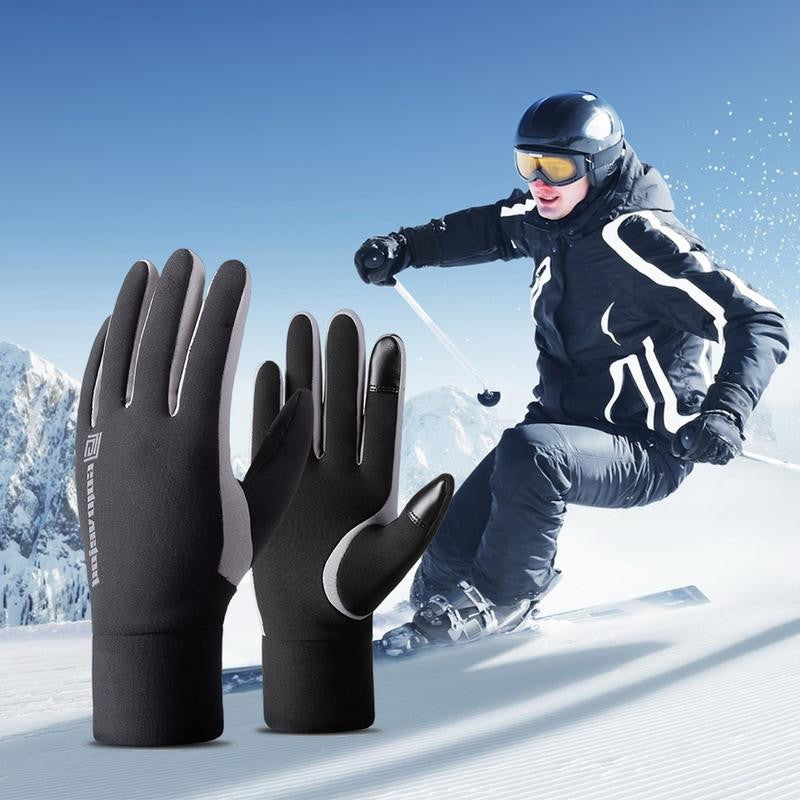 Waterproof Windproof Warm and Fleece-lined Gloves for Riding and Skiing