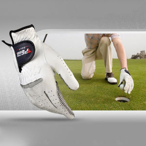 Men's Golf Genuine leather Breathable Pure Sheepskin with Anti-slip granules Gloves