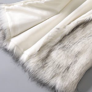 White Fur Vest - Close Up