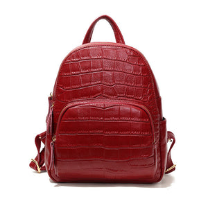 Crocodile Leather Backpack Main