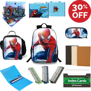 2019 Back To School Spider-Man Series Spiral Notebooks Folders Index Cards  Three-Ring Binder Three-Hole-Punch Backpack Lunch Bag Pencil Case Supplies