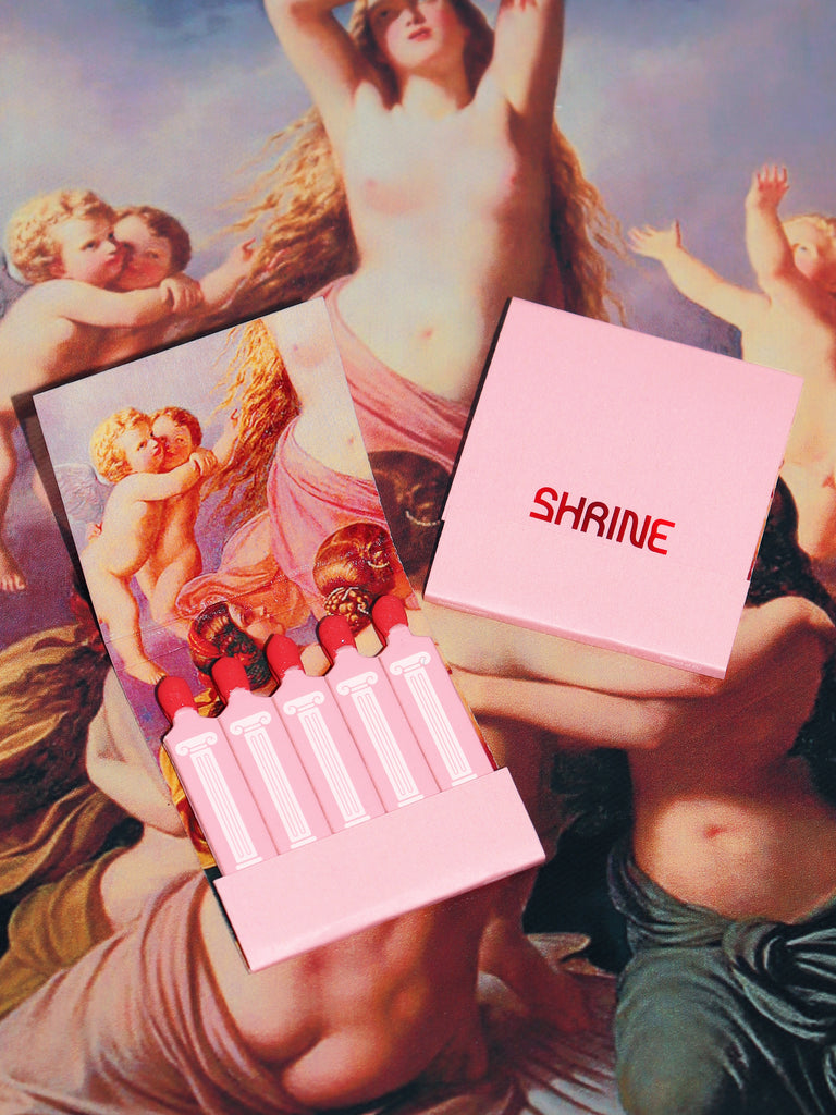 shrine pink angel cherub and pillar matchbook matches shop shrine