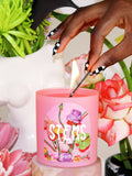 shrine stems pink floral flower candle with flowers and hand shop shrine shopshrine