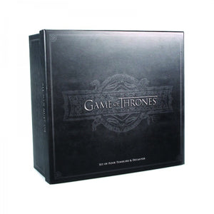 Coffret collector carafe à whisky Game of Thrones avec 4 verres
