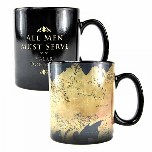Mug Game of Thrones thermoréactif carte de Westeros