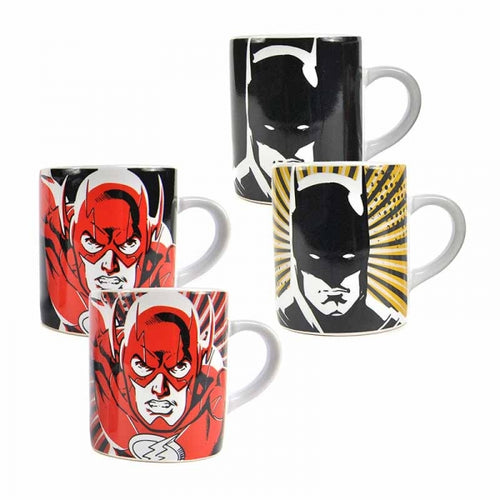 Set de 2 Mini Mugs Justice League thermoréactifs