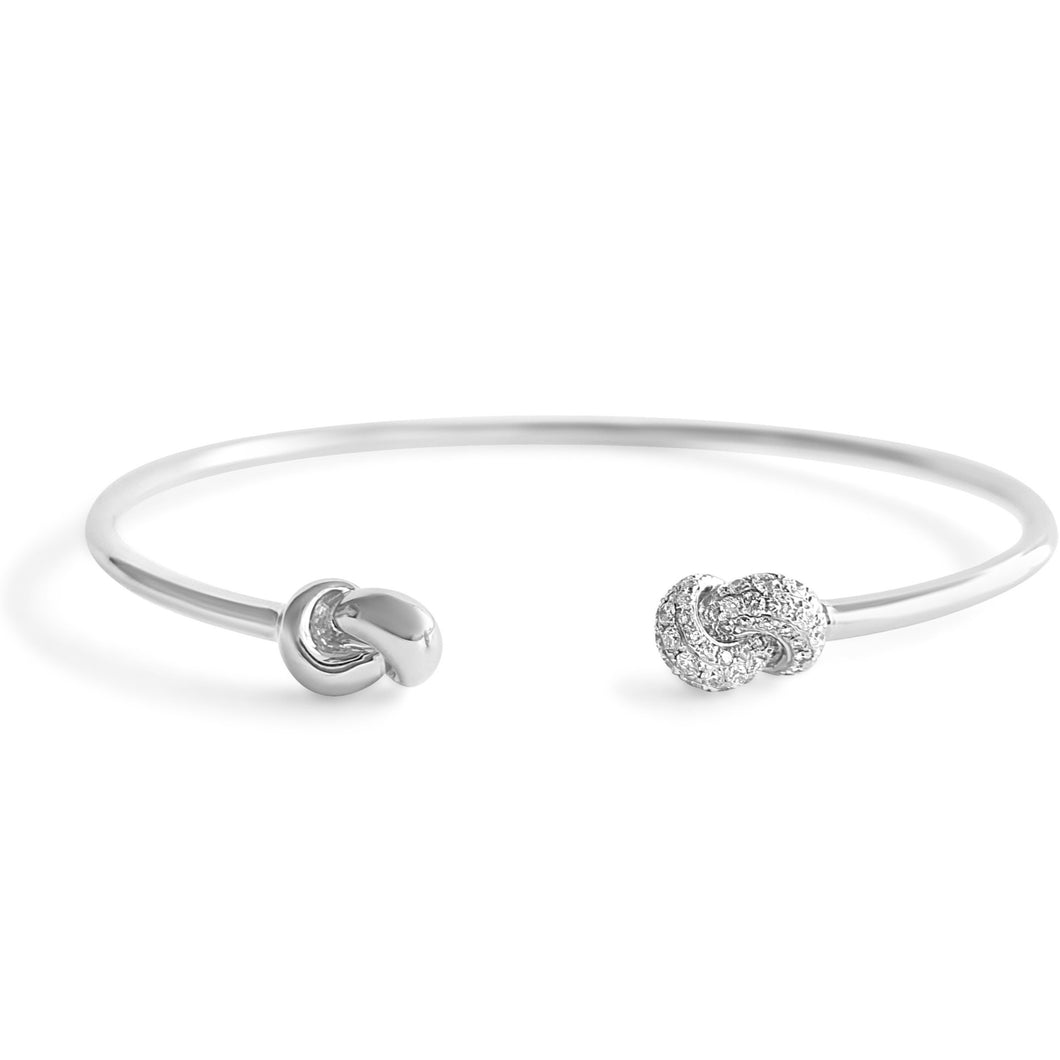 Mini Knot Bracelet - White Gold & Diamonds