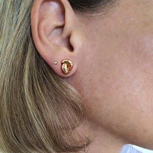Love Knot Earring- Plain Pink Gold