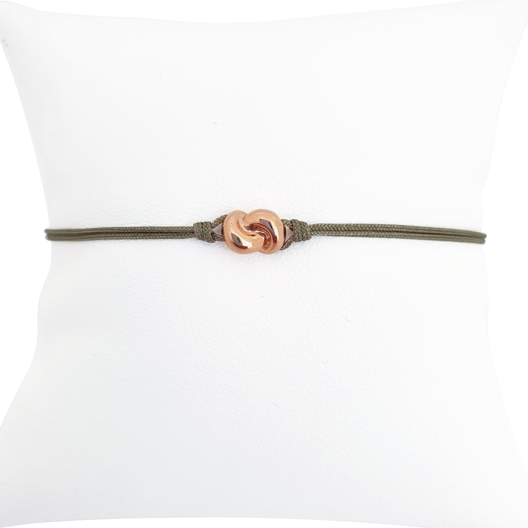Mini Knot Bracelet in Pink Gold