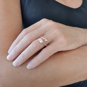 Mini Knot Ring in Pink Gold with Double Knots