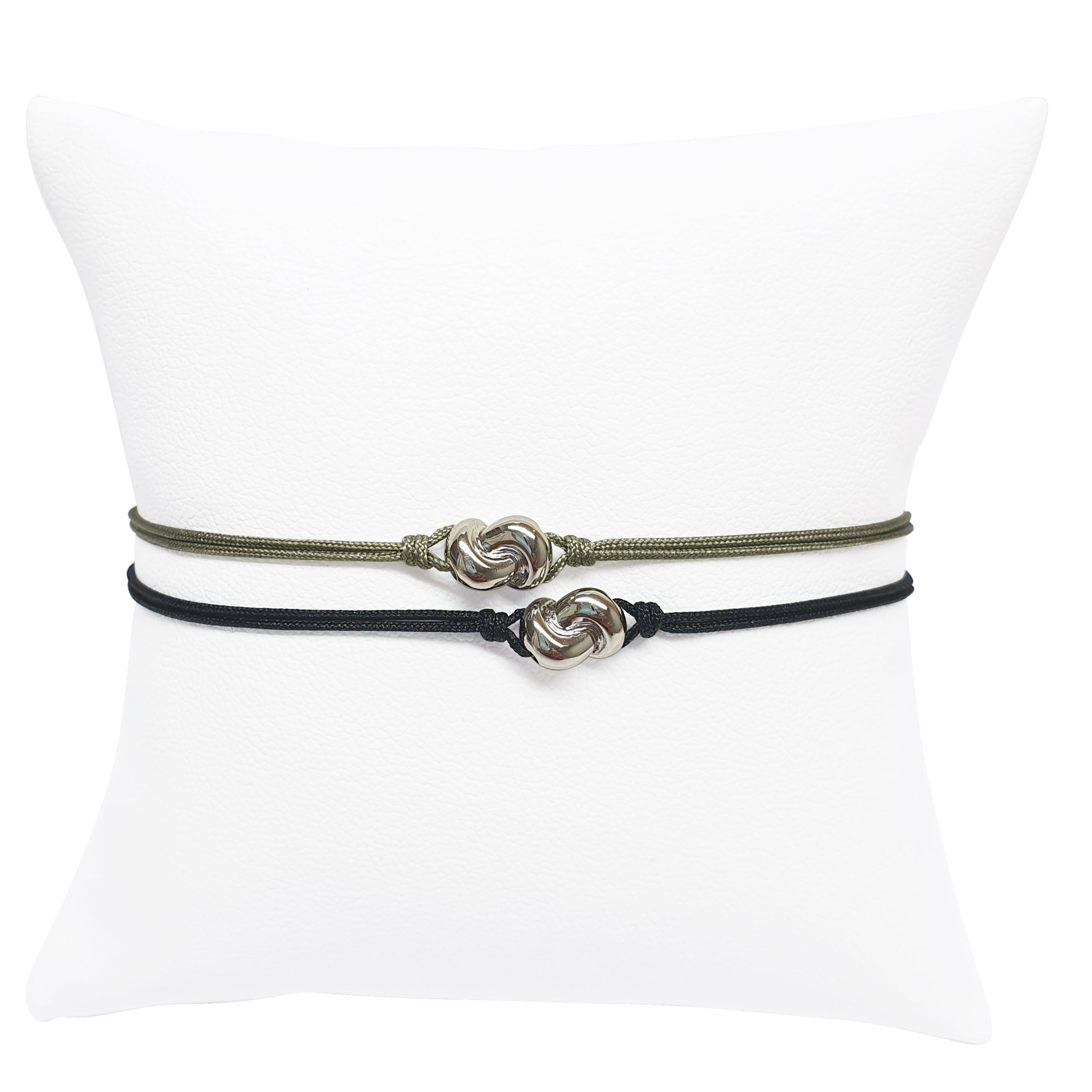 Silver Mini Knot Bracelets Pair ~ A Gift For Me or Someone Special