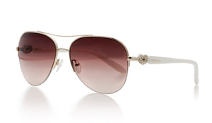 KISSES White Classic - Sun Glasses